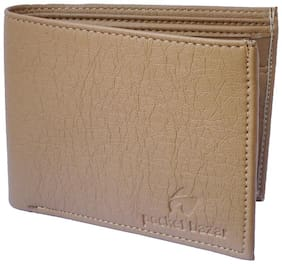 Pocket Bazar  Men Beige Artificial Leather Wallet  (3 Card Slots)