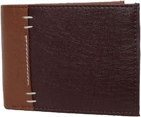 pocket bazar Men Brown Pu Bi-Fold Wallet ( Pack of 1 )
