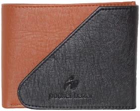 pocket bazar Men Black Pu Bi-Fold Wallet ( Pack of 1 )