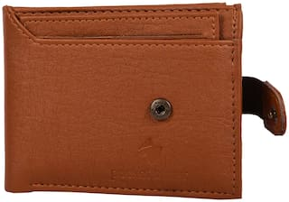pocket bazar Men Tan Leather Bi-Fold Wallet ( Pack of 1 )