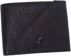 pocket bazar Men Black Leather Bi-Fold Wallet ( Pack of 1 )