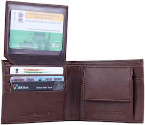 pocket bazar Men Brown Pu Bi-Fold Wallet ( Pack of 1 )