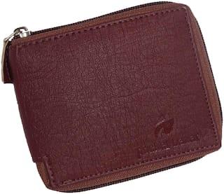 pocket bazar Men Brown Leather Bi-Fold Wallet ( Pack of 1 )