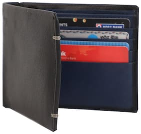 pocket bazar  Men Formal Black Genuine Leather Wallet  (9 Card Slots)