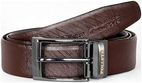 POLLSTAR Black & Brown Italian Leather Belt for Men Business Style 35mm (BT104)