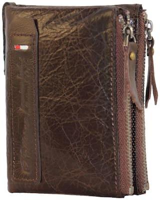 POLLSTAR Men Brown Leather Bi-Fold Wallet ( Pack of 1 )