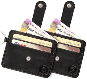 POLLSTAR Men Black Leather Bi-Fold Wallet ( Pack of 2 )