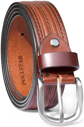 POLLSTAR Made in the INDIA - Full Grain Premium Quality Leather Belts (BT122BN)