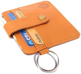 POLLSTAR Men Leather Card holder - Tan , Pack of 1