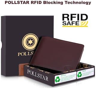 POLLSTAR Men Brown Leather Bi-Fold Wallet
