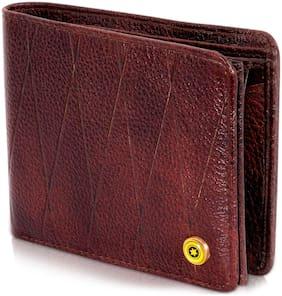 POLLSTAR Men Brown Leather Bi-Fold Wallet ( Pack of 1 )