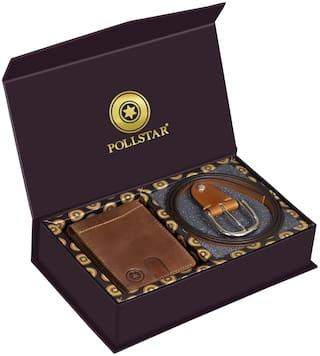 POLLSTAR  Wallets and Belts Gift Sets For Men