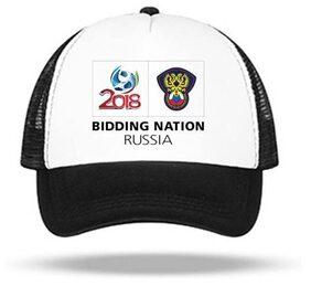 Popmode Unisex Black Adjustable Mesh Baseball Cap Russia 2018 World Cup Hat Trucker Hat Summer Cap