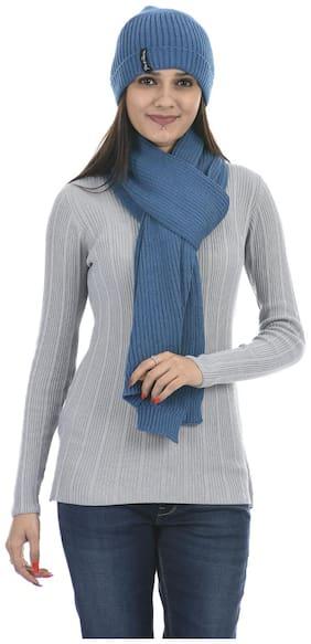 Portobello Women Wool Mufflers - Blue