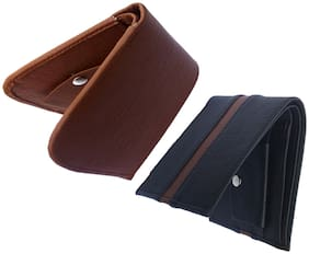 FRIENDS & COMPANY Men Assorted Leather Bi-Fold Wallet ( Pack of 2 )