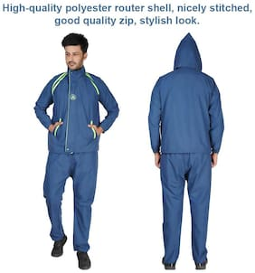 AMEXTRIAN Unisex Polyester Blue Rain Suit ( Xl , Pack of 1 )