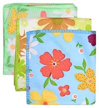 Premium Ladies Printed Multicolor Soft Handkerchief Soft Cotton Handkerchief For Girls/kids/Women/Ladies Pack of 10 (Pattern as per availability)