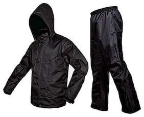 Premium Plain Rain Coat (XL- Free size) Black