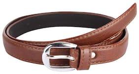 EVERDIVA Women PU Belt - Brown
