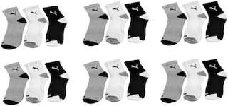 Puma Cotton Ankle Length Socks ( Pack of 18)