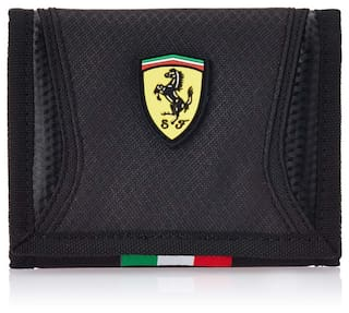 b057b5784fc3 Buy Puma Ferrari Black Wallet Online at Low Prices in India ...