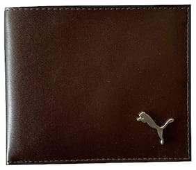 Vital King Men Brown Genuine Leather Wallet