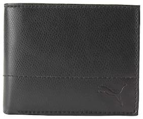Puma Men Leather Bi-fold Wallet - Black