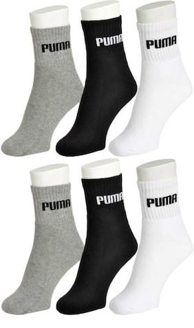 Puma Multi Cotton Ankle length socks ( Pack of 6 )