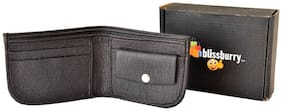 Pure Leather (pu) Stylish Purse for Men, Separable Card Holder, Black Colour, Long Lasting Quality, Hand Made