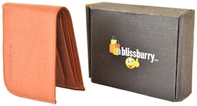 Pure Leather (pu) Stylish Purse for Men, Tan Colour, Long Lasting Quality, Hand Made Tan Curve