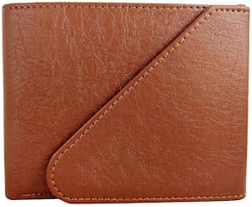 Pure Leather Stylish Wallet for Men, Tan Colour, Long Lasting, Hand Made (Model-MW-TF-T-0004)