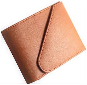 Pure Luxuries Genuine Triple Fold  Men's Leather Wallet (Tan)