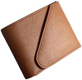 Quetzal Branded and Stylish New Leather Men's Wallet - Color Tan 5 Card Slots