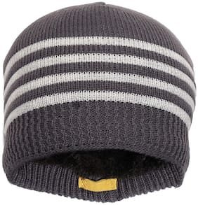 QUXXA Beanie Winter Knit Wool Warmer Cap Thick & Stretchable for Men