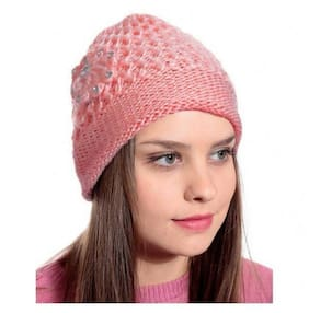 QUXXA Beanie Winter Skull Wool Warmer Cap Thick & Stretchable for Women