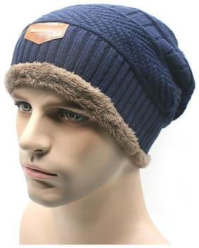 QUXXA Furr Winter Wool Warmer Cap Thick & Stretchable for Men