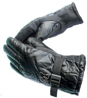 QUXXA Men Faux fur Glove - Black