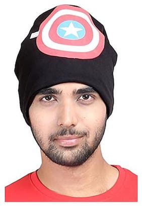 QUXXA Winter Wool Warmer Cap Stretchable and Comfortable for Men  (Assorted Print Design)