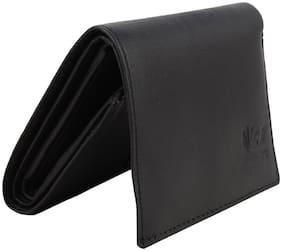 R Black Genuine Leather Men's Wallet (R_Wallet_91)