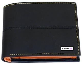 0723278964f06 Buy Radon Men s Casual Black+Tan Leather Wallet (9+ Card Slots ...