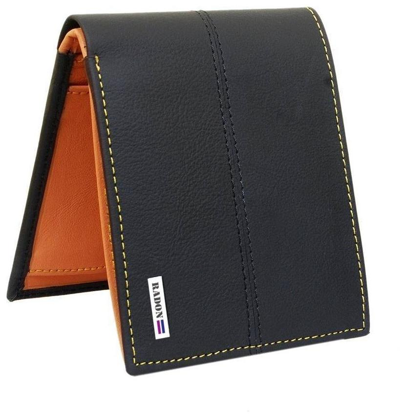 8a4e05019abdf Buy Radon Men s Casual Black+Tan Leather Wallet (9+ Card Slots) Online at  Low Prices in India - Paytmmall.com