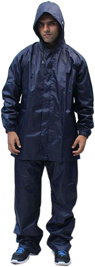 Rain Suit with Waterproof Jacket and Pant for Men