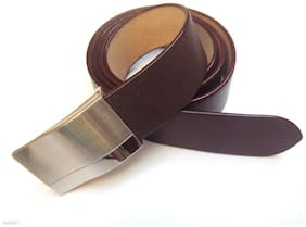 REAL 100% GENUINE LEATHER BROWN BELT FOR MEN'S / GENT'S OFFICIAL & FORMAL WEAR