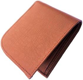 Men Leather Bi-Fold Wallet ( Tan )