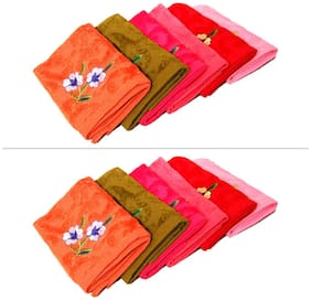 Red Ballons  Multi- Color Super Soft Self Designed Floral Face towel with embroidery  ( Pack of 6 )