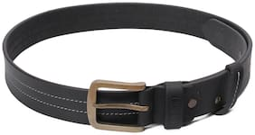 Red Chief Men Black Leather Belt (Size: 34 , Pack of 1 )
