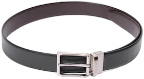 Red Chief Men Black Leather Belt (Size: Free size , Pack of 1 )