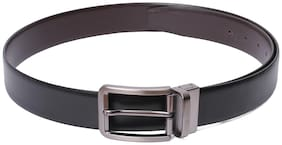 Red Chief Men Black Leather Belt (Size: 38 , Pack of 1 )