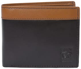 Red Chief Men Brown Leather Bi-Fold Wallet ( Pack of 1 )