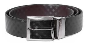 Red Chief Men Black Leather Belt (Size: 40 , Pack of 1 )